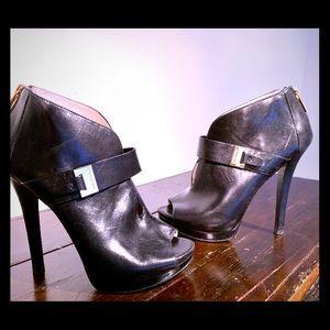Michael Kors Black Leather ankle booties